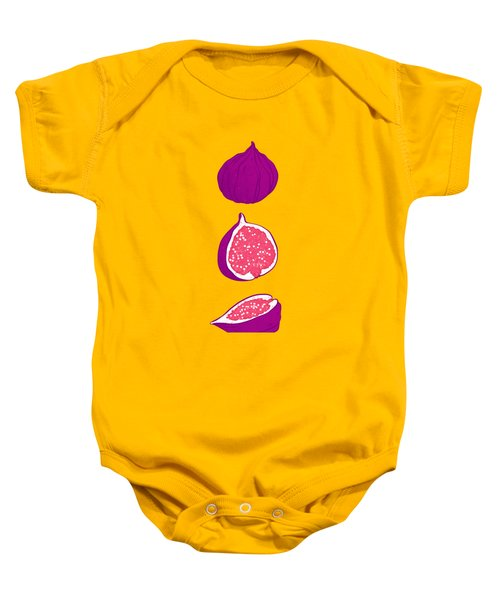 Fig Baby Onesie by Evgenia Chuvardina
