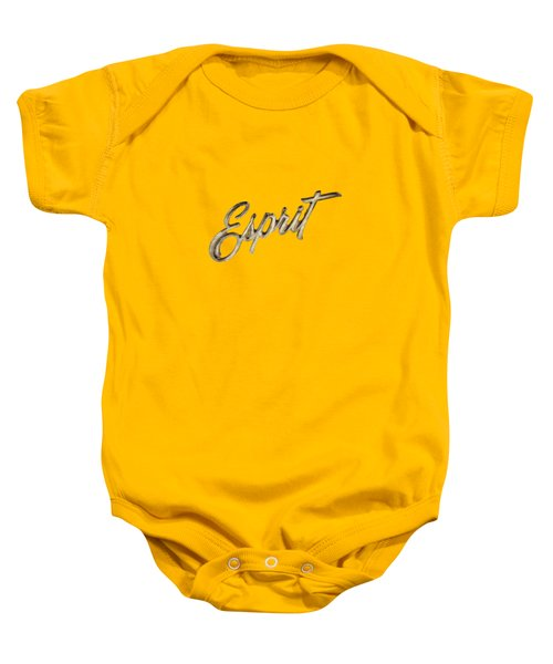 Firebird Esprit Chrome Emblem Baby Onesie by YoPedro