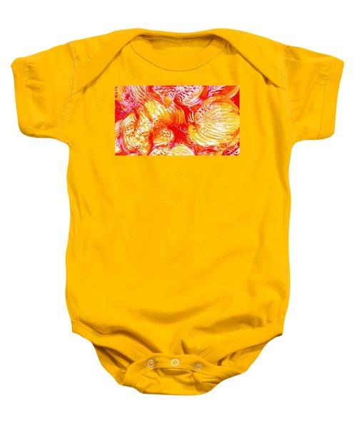 Flaming Hosta Baby Onesie