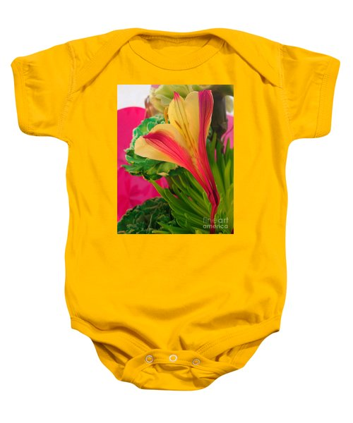 Floral Fusion Baby Onesie