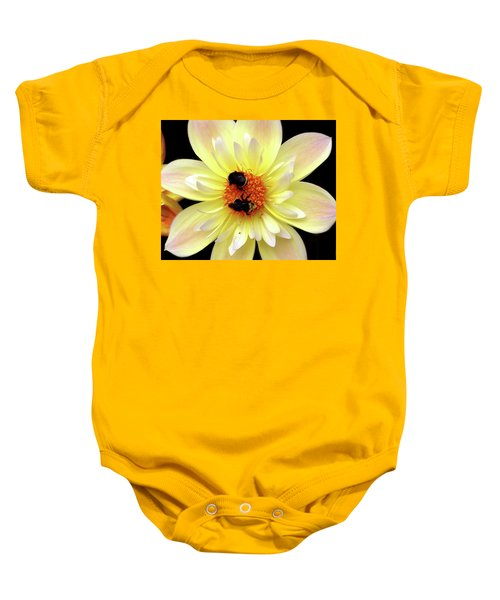 Flower And Bees Baby Onesie