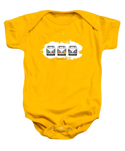Flower Power Vw Baby Onesie