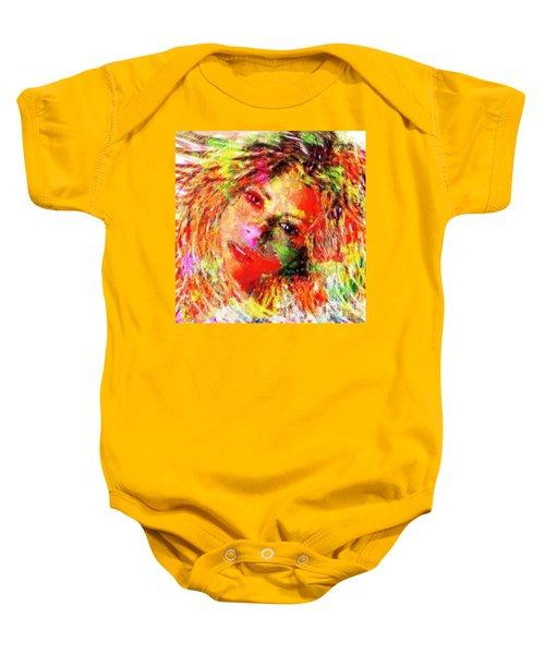 Flowery Shakira Baby Onesie by Navo Art