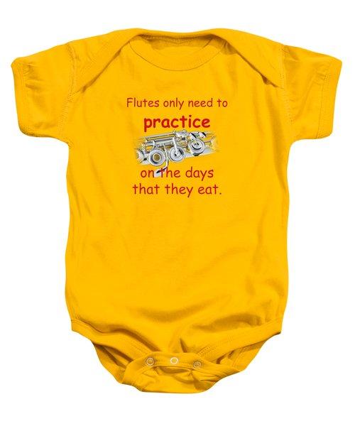 Flutes Practice When They Eat Baby Onesie
