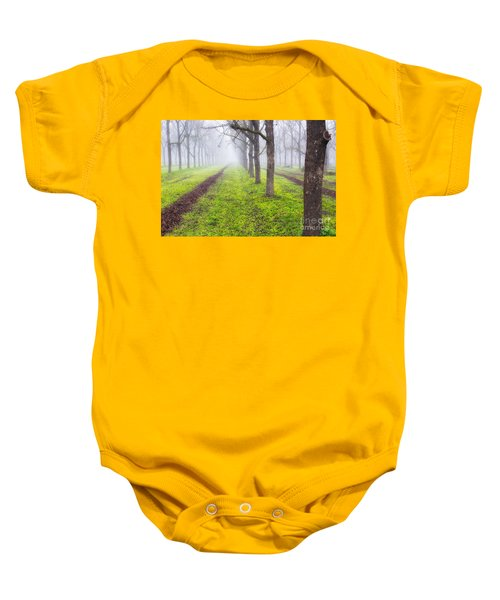 Fog And Orchard Baby Onesie