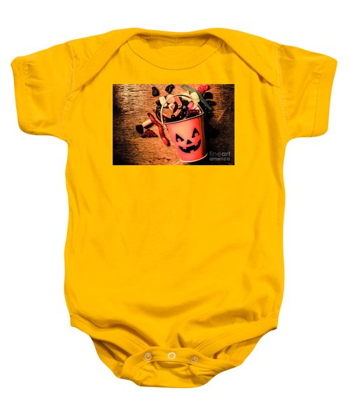 Food For The Little Halloween Spooks Baby Onesie