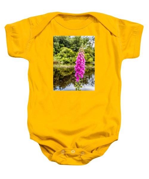 Foxglove In Flower Baby Onesie