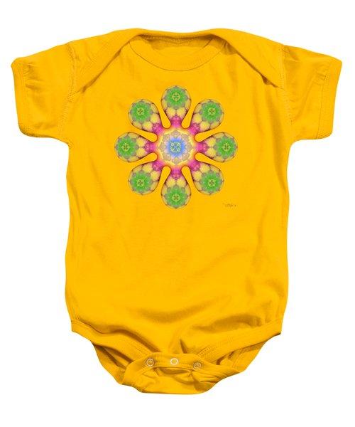 Fractal Blossom 3 Baby Onesie