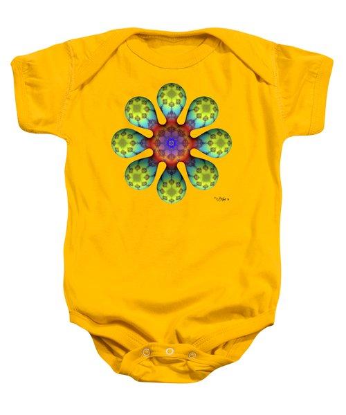 Fractal Blossom 4 Baby Onesie