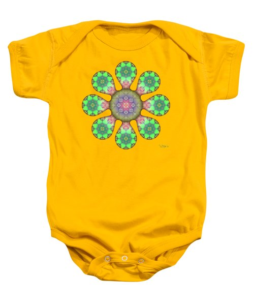 Fractal Blossom 5 Baby Onesie