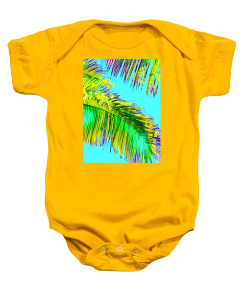 Fragment Of Coconut Palm Psychedelic Baby Onesie