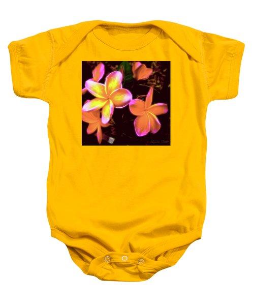 Frangipanis On The Glow Baby Onesie
