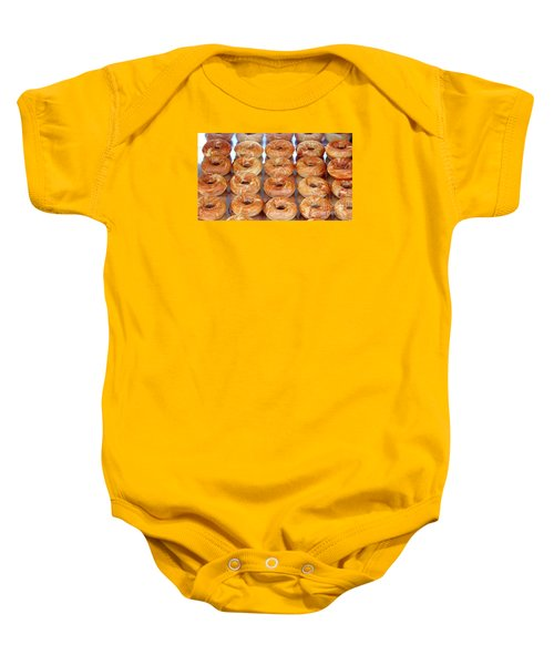 Fresh Frosted Doughnuts On Sale Baby Onesie