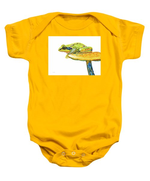Frog Sitting On A Toad-stool Baby Onesie