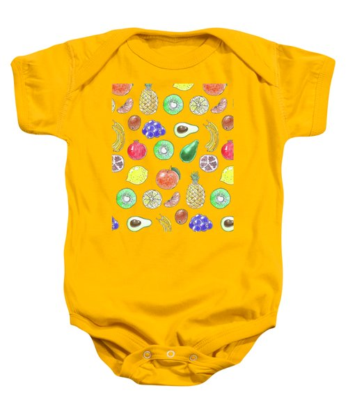 Fruit Pattern  Baby Onesie by Katerina Kirilova