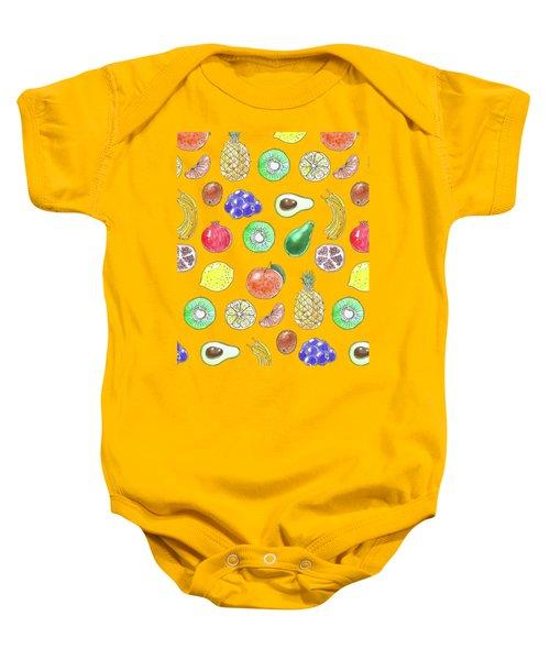 Fruit Pattern  Baby Onesie