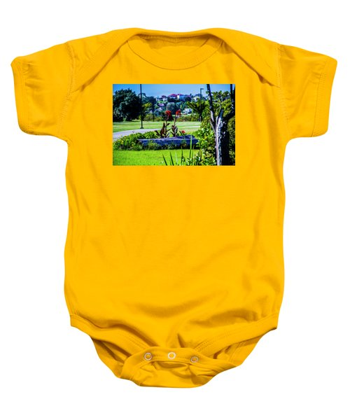 Garden Log Baby Onesie