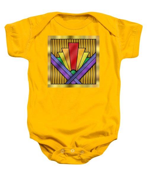 Rainbow Art Deco Baby Onesie