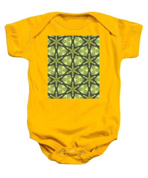 Geo Stars In Greens Baby Onesie