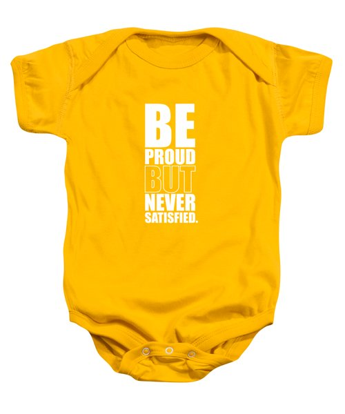 Getting Stronger Each Day Gym Quotes Poster Baby Onesie