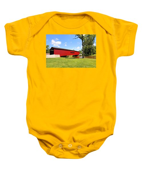 Gilpin's Falls Covered Bridge Baby Onesie
