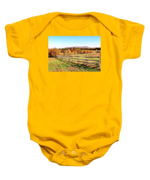 Glendale Road View In The Fall Baby Onesie