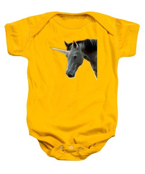 Glowing Unicorn Baby Onesie by Shane Bechler