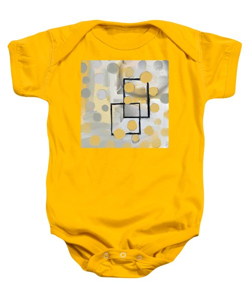 Gold And Grey Abstract Baby Onesie