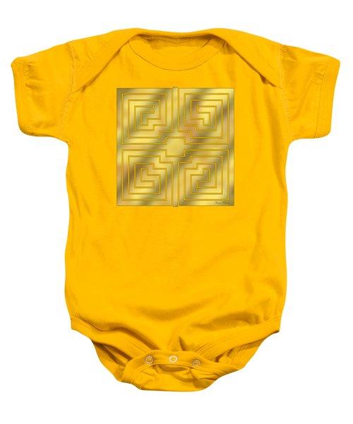 Gold Geo 4 - Chuck Staley Design  Baby Onesie