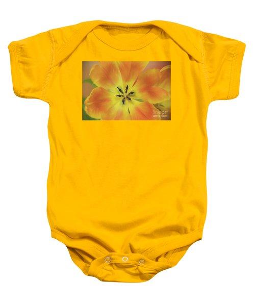 Gold Tulip Explosion Baby Onesie