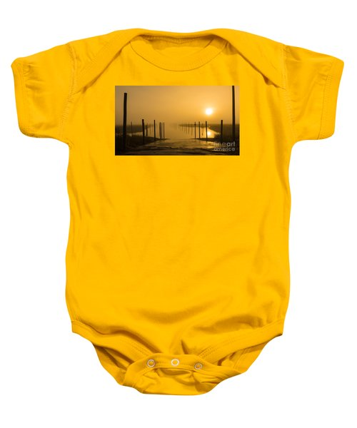 Golden Fog On The Nissequogue Baby Onesie