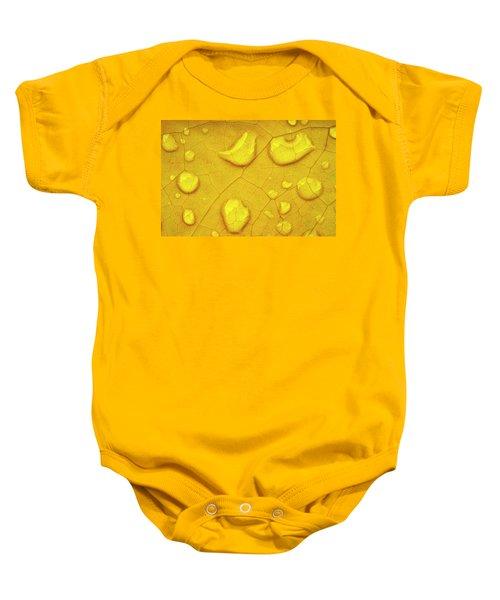 Golden Leaf Baby Onesie