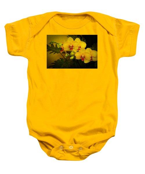 Golden Orchids Baby Onesie