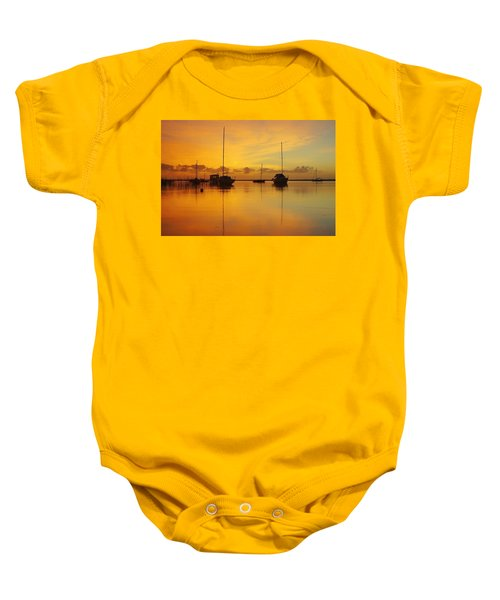 Golden Sunrise At Boreen Point Baby Onesie