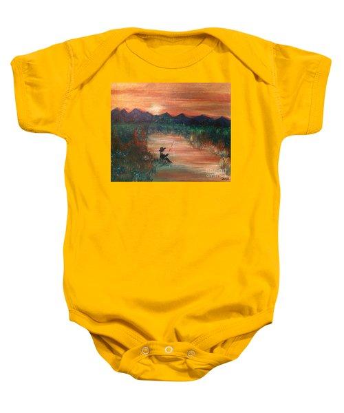 Golden Sunset Baby Onesie