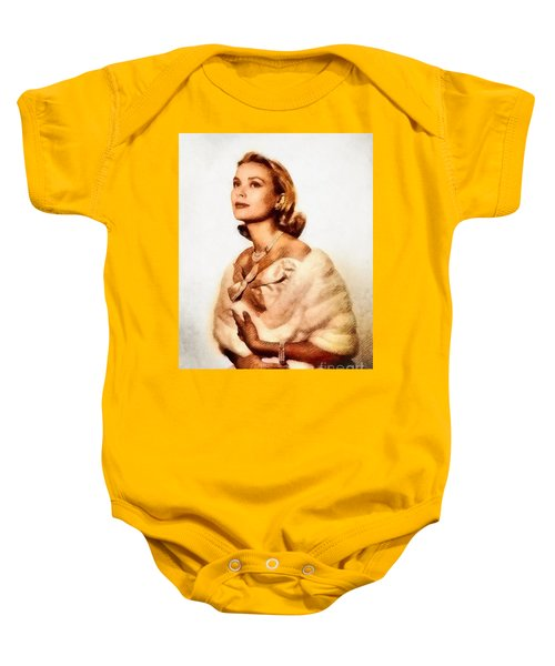 Grace Kelly, Vintage Actress By John Springfield Baby Onesie by John Springfield