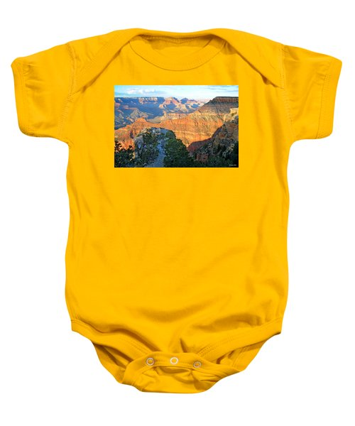 Grand Canyon South Rim At Sunset Baby Onesie