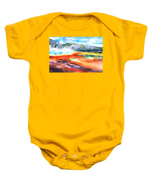 Grand Prismatic Hot Spring Baby Onesie