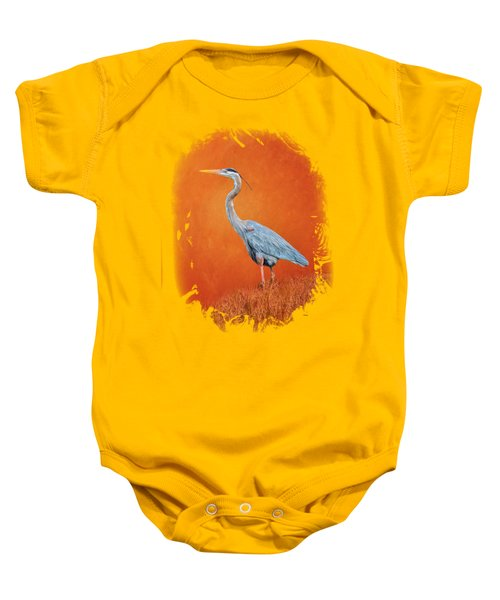 Great Blue Abstract 2 Baby Onesie by John M Bailey