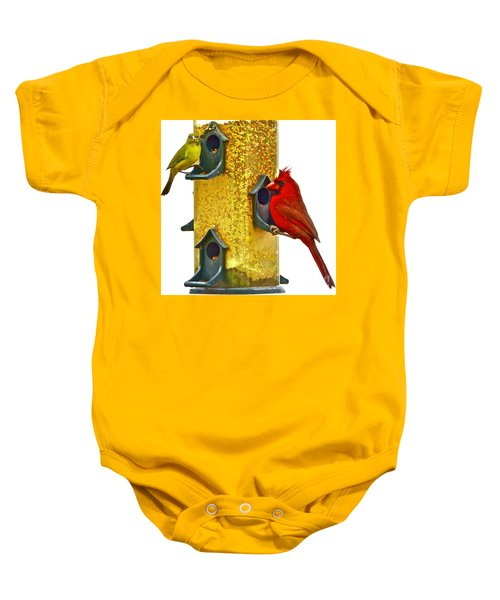 Green And Red  Baby Onesie