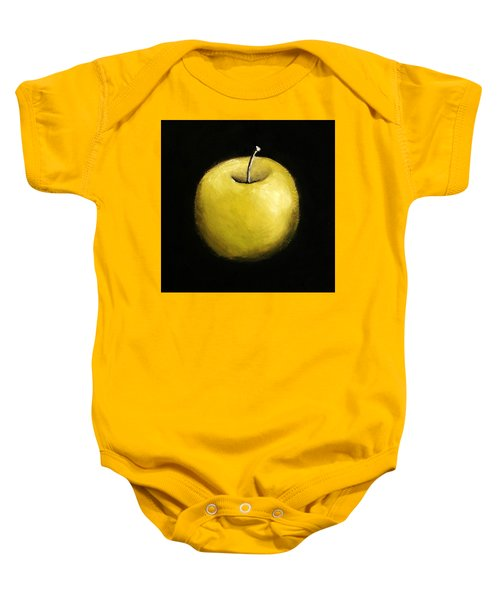 Baby Onesie featuring the painting Green Apple Still Life 2.0 by Michelle Calkins