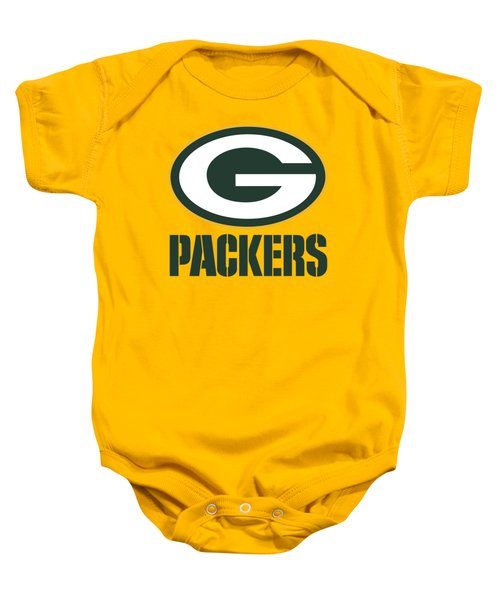 Green Bay Packers On An Abraded Steel Texture Baby Onesie