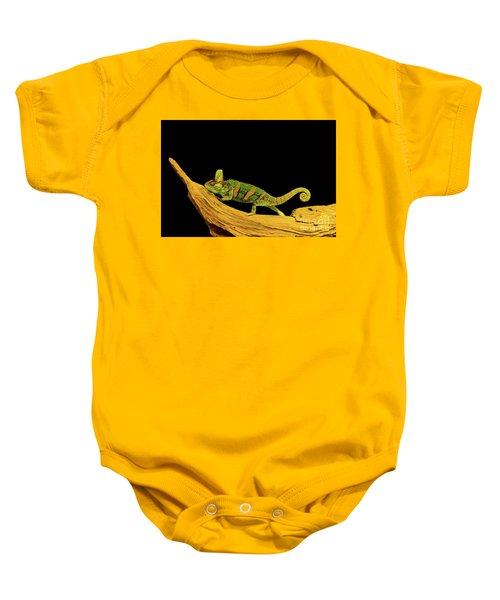 Green Chameleon Baby Onesie