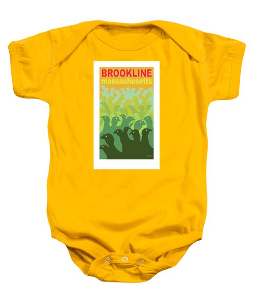 Green Fields Of Brookline Baby Onesie