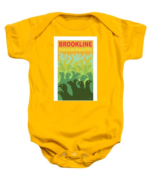 Green Fields Of Brookline Baby Onesie