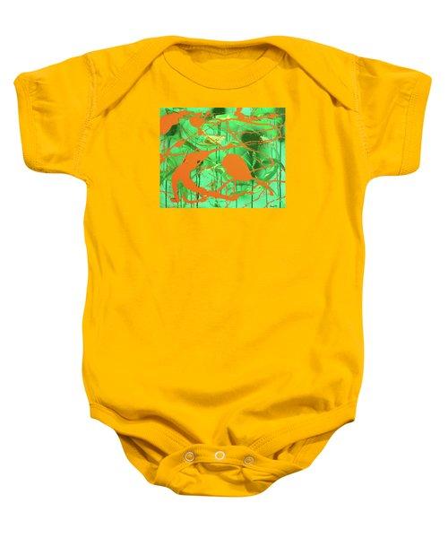 Green Spill Baby Onesie