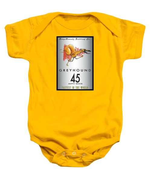 Greyhound 45 Mph Beer Baby Onesie