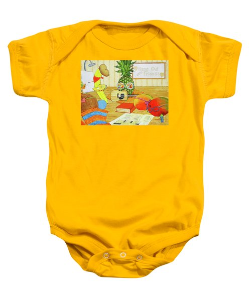 Hang Out With Friends Baby Onesie