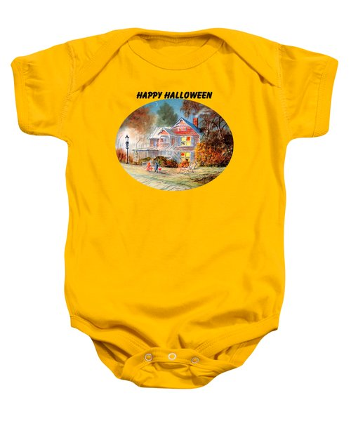 Happy Halloween Baby Onesie by Bill Holkham
