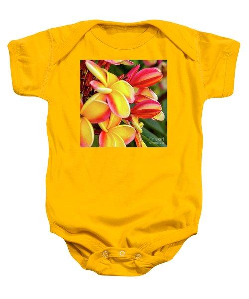 Hawaii Plumeria Flowers In Bloom Baby Onesie